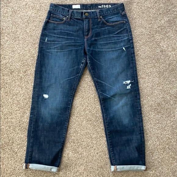 GAP Denim - Gap 1969 Dark Wash Sexy Boyfriend Jeans